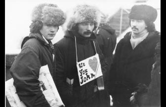 John Lennon commemoration meeting on the Lenin Hills, 1980. Photo: openmusicblog.com