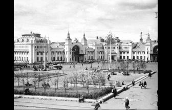 Belorusskaya station in Moscow, 1948–1950. Photo: PastVu