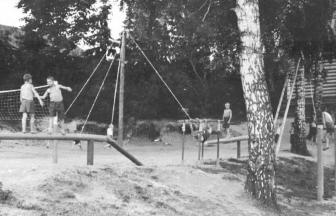 The orphanage's sports playground, 1948.