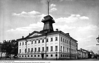 Lefortovskiy police station. Arrest house was located on its courtyard. Photo: PastVu