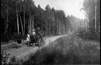 Lianozovo, the road from the station (1910s). Photo: PastVu