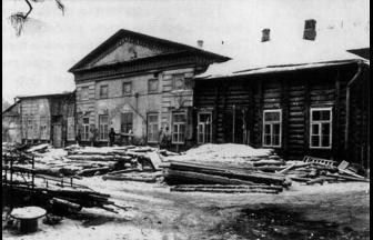 6 Bolshaya Gruzinskaya Street. Restoration of the Shcherbatov house, 1971. Photograph: PastVu