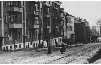 Shmitovskiy Lane, 1935. Now there is no Street, where the Institution was situated, as it was attached to Shmitovskiy Lane. Photo: www.umiat-termo.ru
