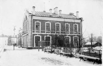 Pushkino railway station, 1956. Source: pushkino.org