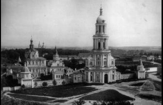 Spaso-Andronikov Monastery, 1881. Photo: Naidenov N.A. Moscow: Cathedrals, Monasteries, and Churches (album)