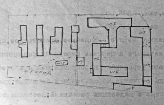 Plan of buildings of Taganka in 1920. Photo: