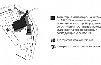Map of the Ivanovskii Concentration Camp. Photo: Memorial Society Photo Archive