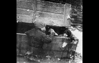 Homeless children in a cold basement, late 1920s. Photograph: Institute of Contemporary Russia