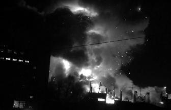 Пожар складов на Тушинском машзаводе 10 декабря 2015 года