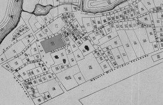 Neighborhood of the Novinskaya Prison. Properties 164/171 are marked in black.