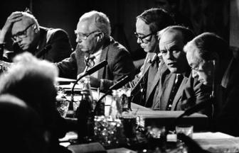 Создание международного Фонда «За безъядерный мир, за выживание человечества». Вторая половина 1980-х гг. Фото: МАММ / МДФ, russiainphoto.ru