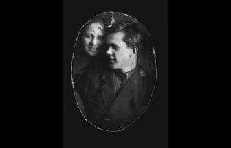 Shalamov with an unknown person