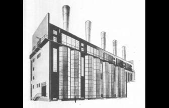 Проект котельной МОГЭС. 1924 г. Архитектор И. Жолтовский