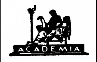 Издательская марка «Academia» работы Г. П. Любарского. Источник: «Academia». 1922–1937. Выставка изданий и книжной графики. М.: Книга, 1980
