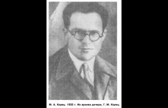М. А. Корец. 1935 г. Фото: Горелик Г. Е. «Моя антисоветская деятельность...»: один год из жизни Л. Д. Ландау // Природа. 1993. № 11