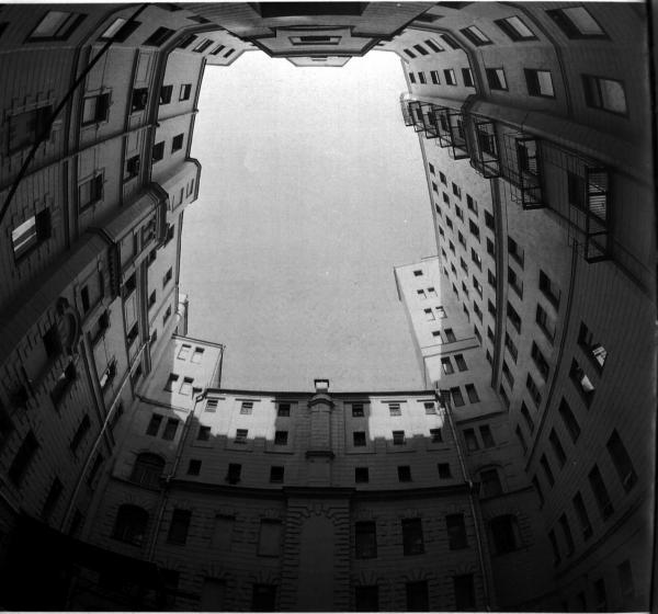 "Courtyard of ""Lubyanka"". Photo: Memorial Society Photo Archive"