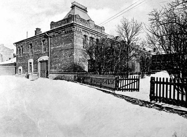 The orphanage for deaf and mute children was opened in this building after 1917. Image from the 1910s. Photograph: PastVu