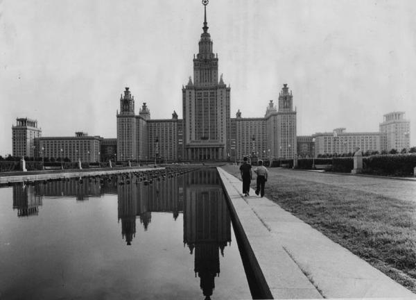 Main building of Moscow State University, 1960s. Photo: PastVu