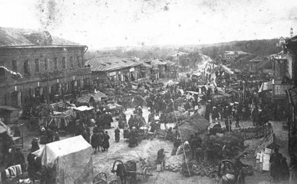 Village of Lopasnya in the early 20th century. Photograph: Moskovskiy Zhurnal