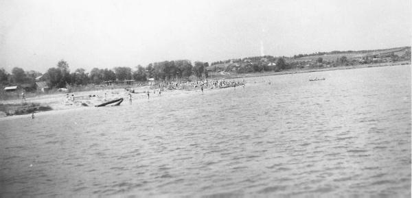 Beach № 3 at Serebryany Bor, 1968. Photo: PastVu