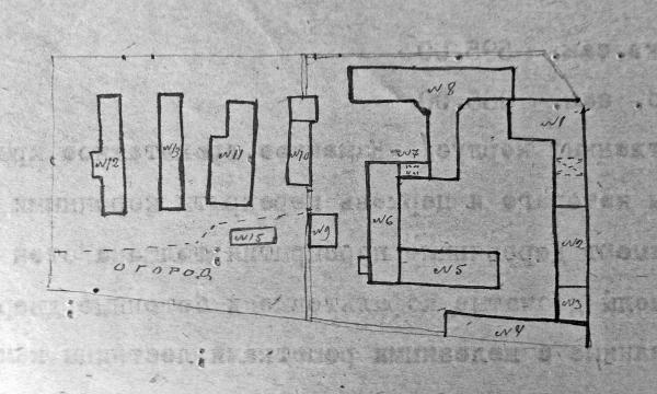 "Plan of buildings of Taganka in 1920. Photo: ""Memorial"" archive"