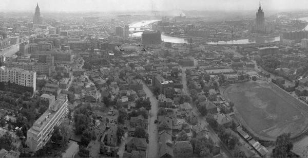 View from above on Kudrinskaya Square. Photo: pastvu.com