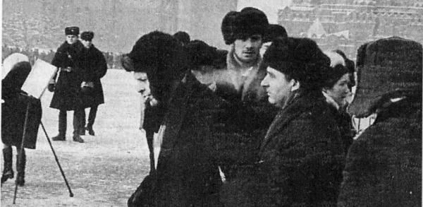 Anatolii Jakobson at the demonstration against re-Stalinization, 1969.