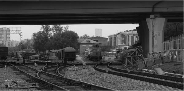 Пути станции Пресня и здание Краснопресненской тюрьмы. Фото: журнал sd3